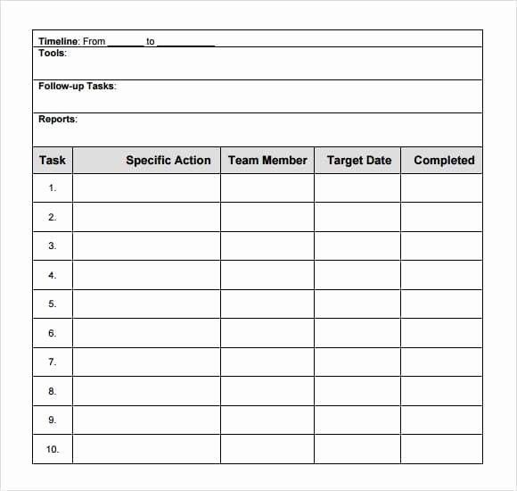 Action Plan Template Excel Unique 8 Action Plan Templates Word Excel Pdf formats