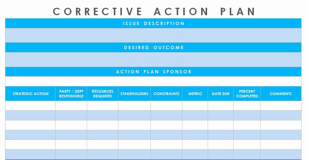 Action Plan Template Excel Unique Get Corrective Action Plan Template Excel Microsoft