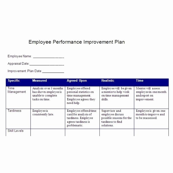 Action Plan Template for Employee Awesome Smart Action Plan Template