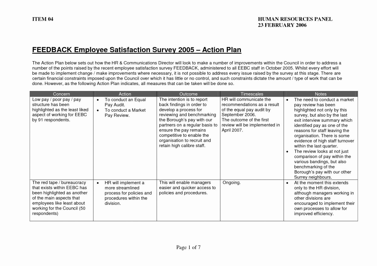 Action Plan Template for Employee Fresh 10 Employee Action Plan Examples Pdf Word