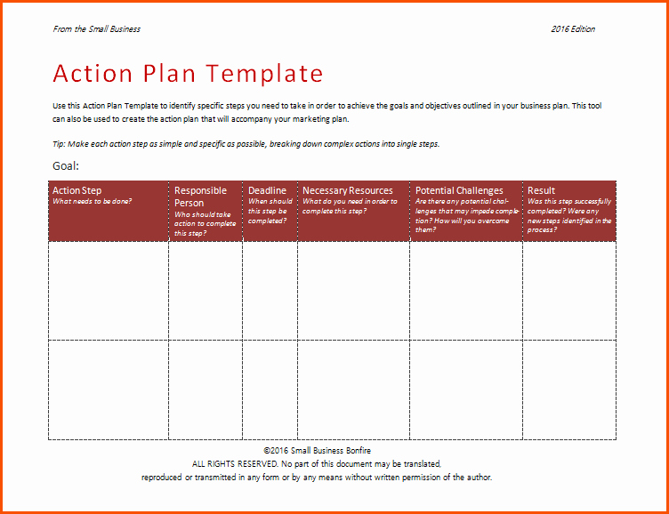 Action Plan Template for Employee Fresh 7 Action Plan formatmemo Templates Word