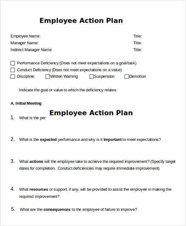 Action Plan Template for Employee Inspirational Action Plan Template 26 Free Pdf Word format