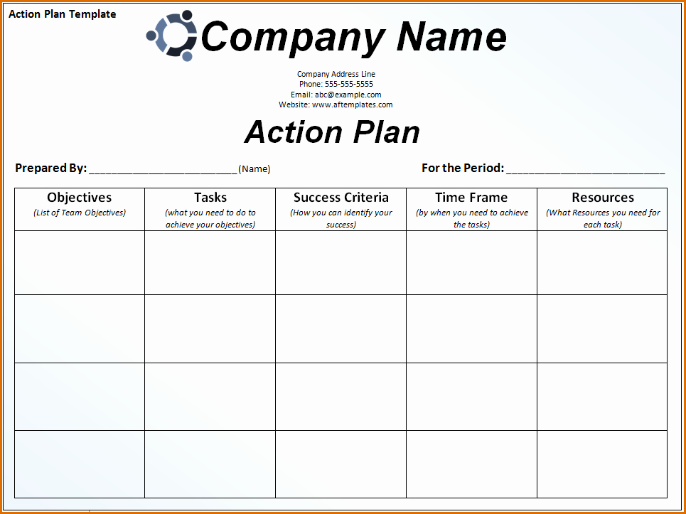 Action Plan Template for Students Best Of 7 Action Plan Template Word