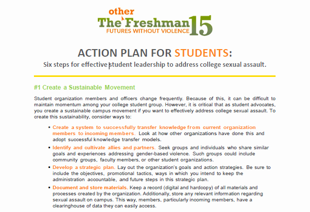 Action Plan Template for Students Best Of Action Plan for Students Preventing College Ual