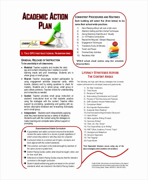 Action Plan Template for Students Luxury Student Action Plan Template 8 Free Word Pdf format
