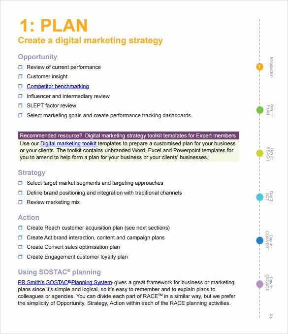 Action Plan Template Pdf Beautiful 15 Marketing Action Plan Templates to Download for Free