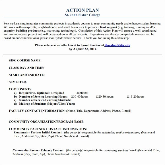 Action Plan Template Pdf Best Of 5 Free Action Plan Templates Free Printables Word Excel