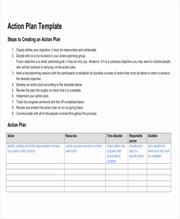 Action Plan Template Pdf Best Of Strategic Life Plan Template 5 Free Word Pdf Documents