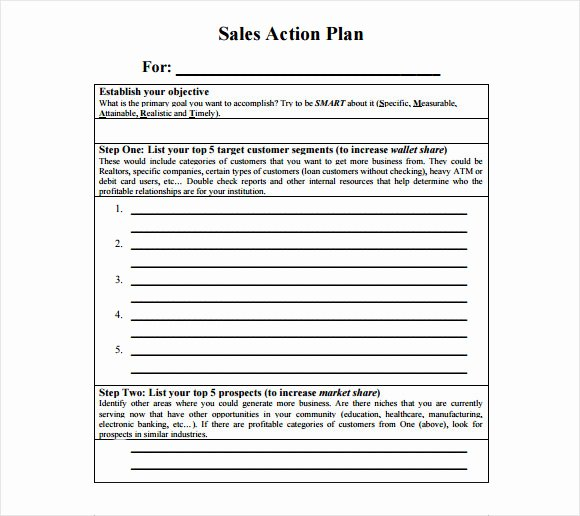 Action Plan Template Pdf Fresh 10 Sales Plan Samples