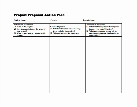 Action Plan Template Pdf Fresh Sample Project Action Plan Template 16 Documents In Pdf