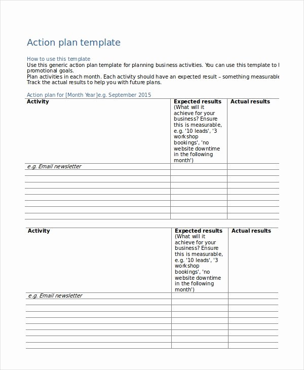 Action Plan Template Pdf Inspirational Action Plan Templates 9 Free Word Pdf Documents