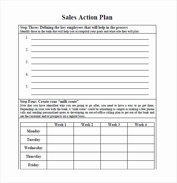 Action Plan Template Pdf New 10 Sales Plan Samples