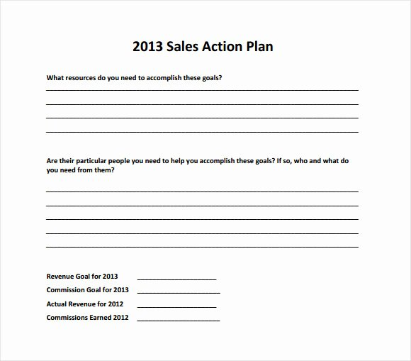 Action Plan Template Pdf Unique 10 Sales Plan Samples