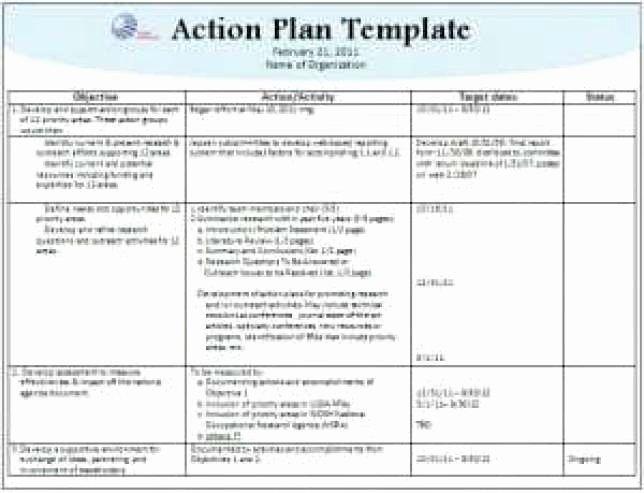Action Plan Template Word Elegant top 6 Free Action Plan Templates Word Templates Excel