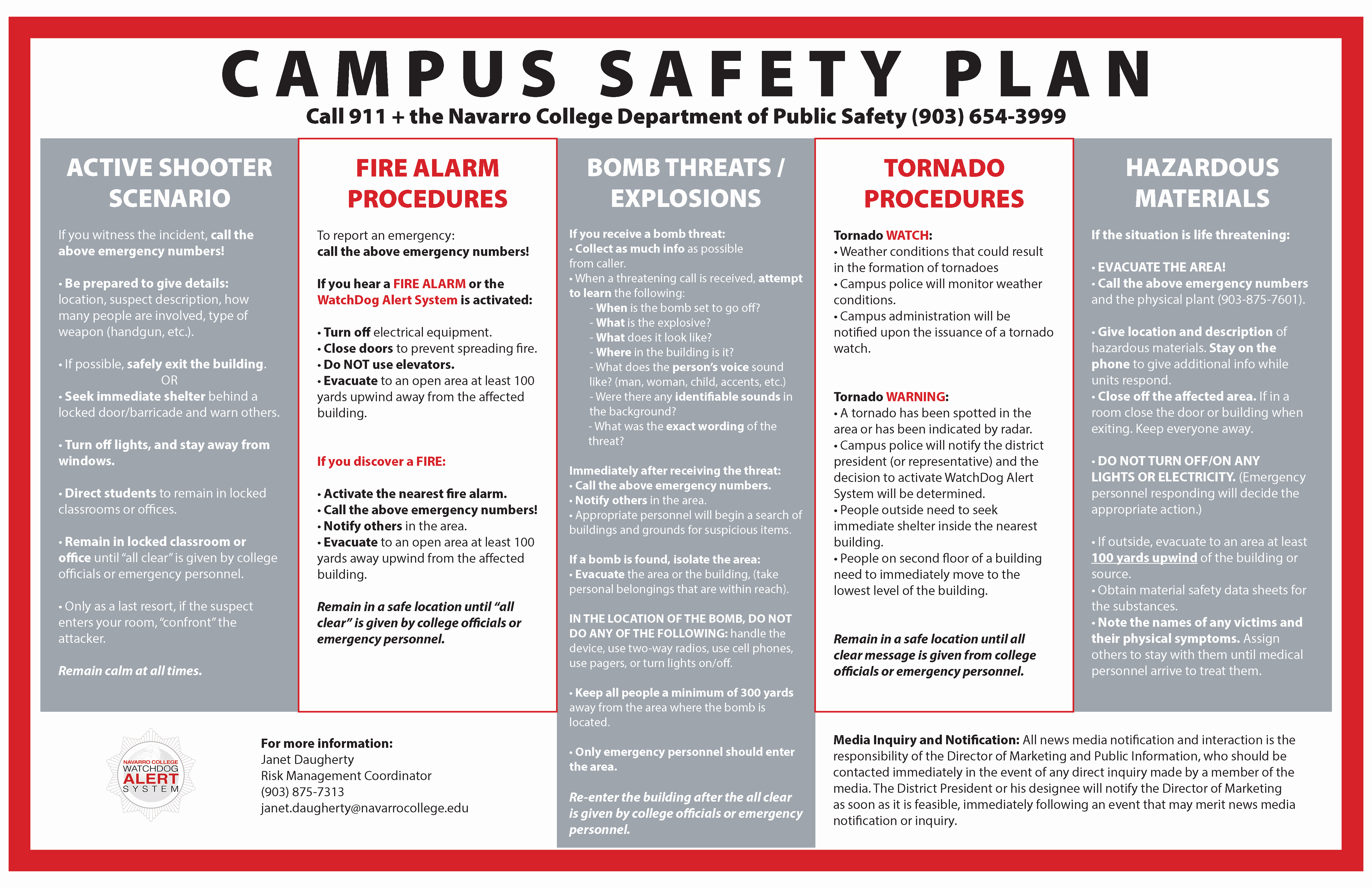 Active Shooter Plan Template Inspirational Navarro College