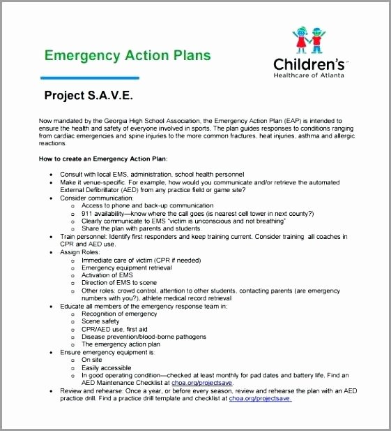 Active Shooter Plan Template Lovely Church Emergency Action Plan Template Fire Example Sample