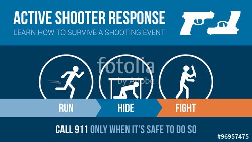 "Active Shooter Response Plan Template Inspirational ""active Shooter Response Safety Procedure"" Stock Image and"