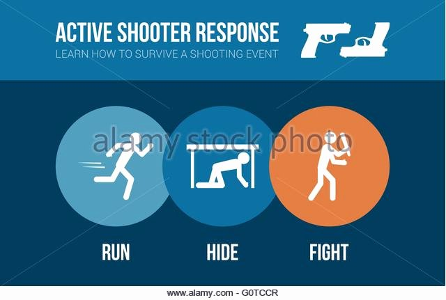 Active Shooter Response Plan Template Lovely Casualty Stock Vector Alamy