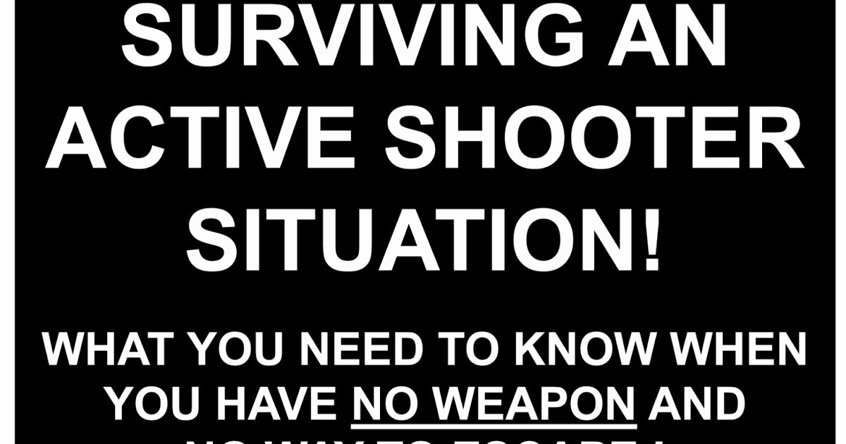 Active Shooter Response Plan Template New Defensive Mindset Active Shooter Response