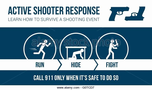 Active Shooter Response Plan Template Unique Casualty Stock Vector Alamy