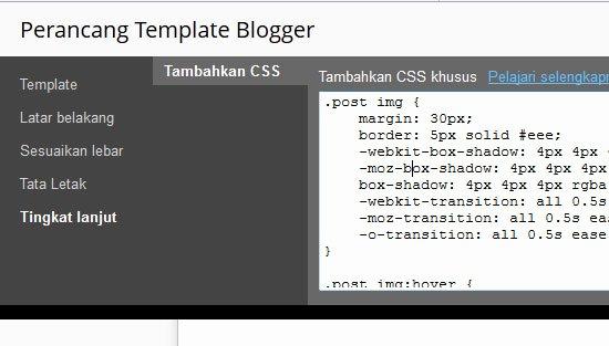cara membuat efek gambar di blog dengan