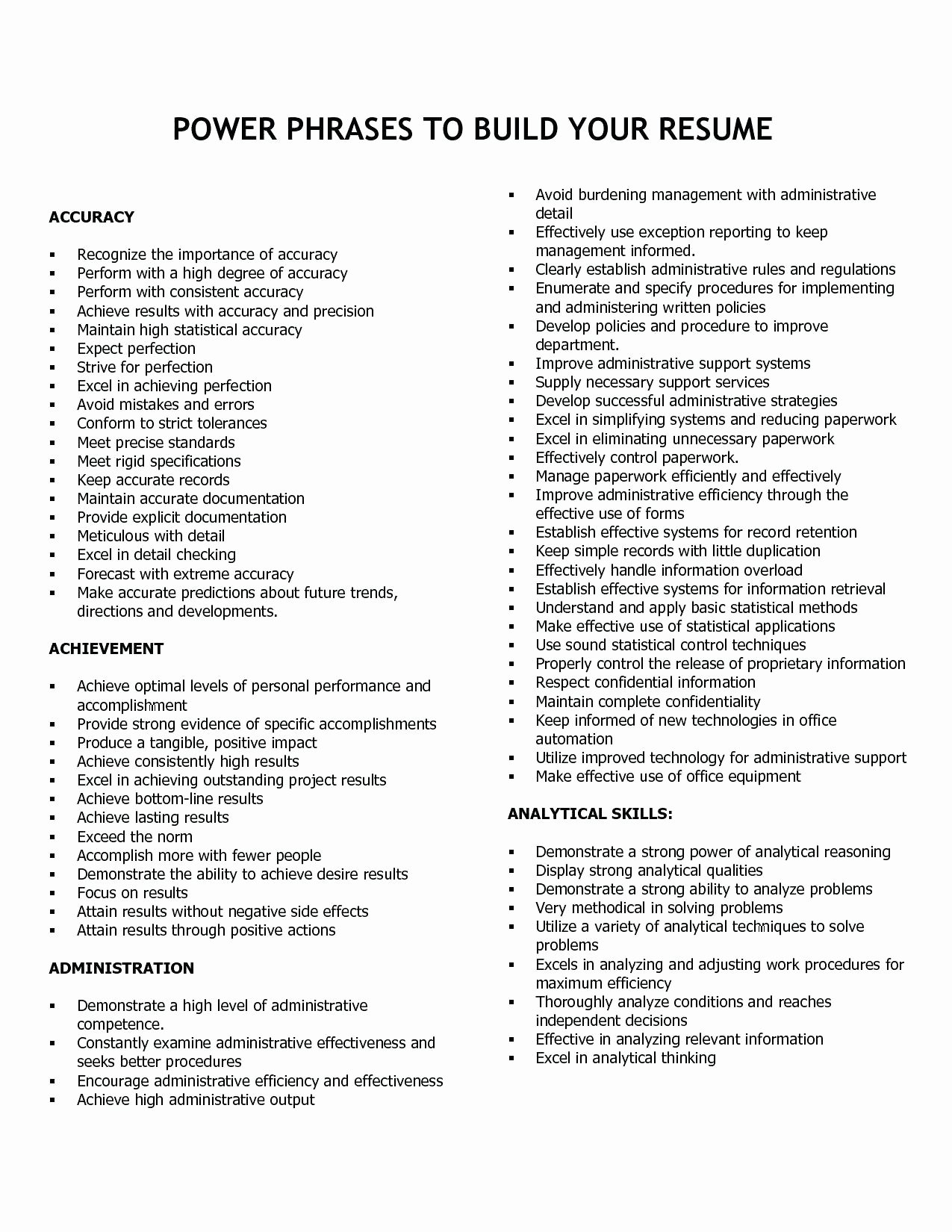 Adjectives for Letter Of Recommendation Luxury Professional Free Resume Templates with Positive
