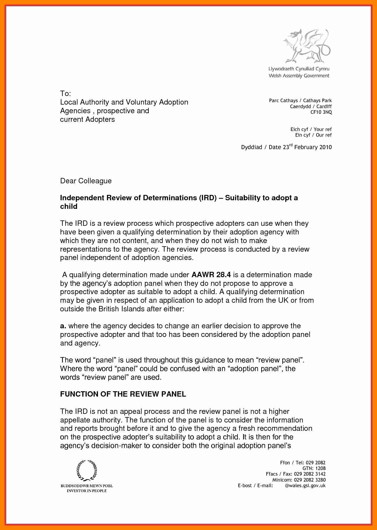 Adoption Recommendation Letter Sample Elegant 15 Adoption Letter Sample