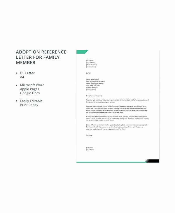 Adoption Recommendation Letter Sample Fresh 10 Adoption Reference Letter Templates Free Sample