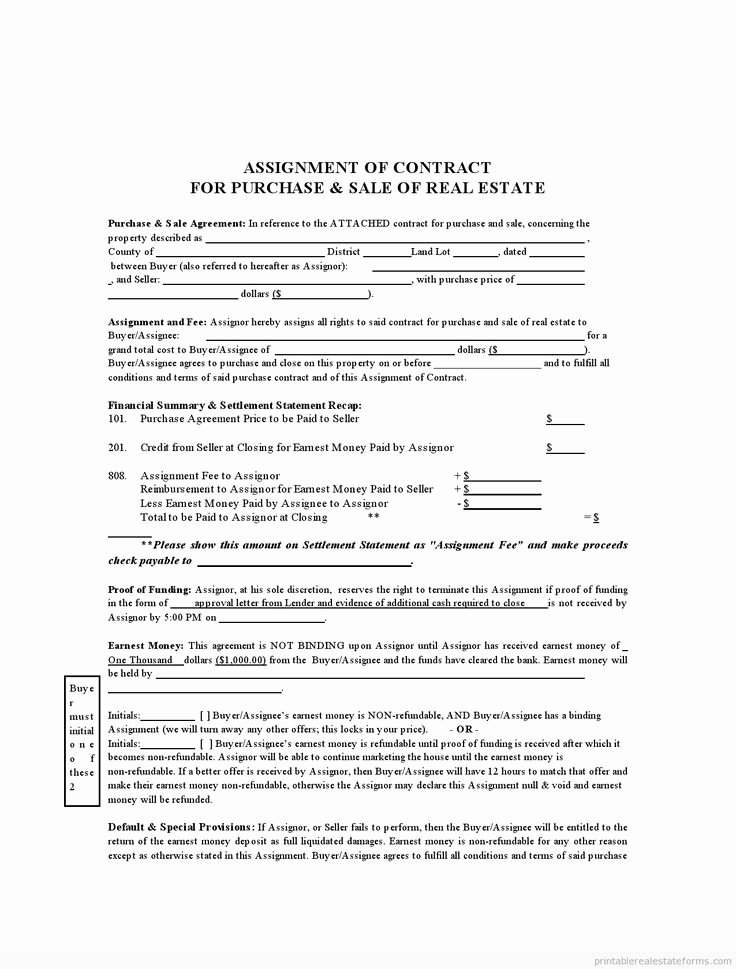 Affidavit Of assignment Fresh 902 Best Images About Sample Real Estate forms On