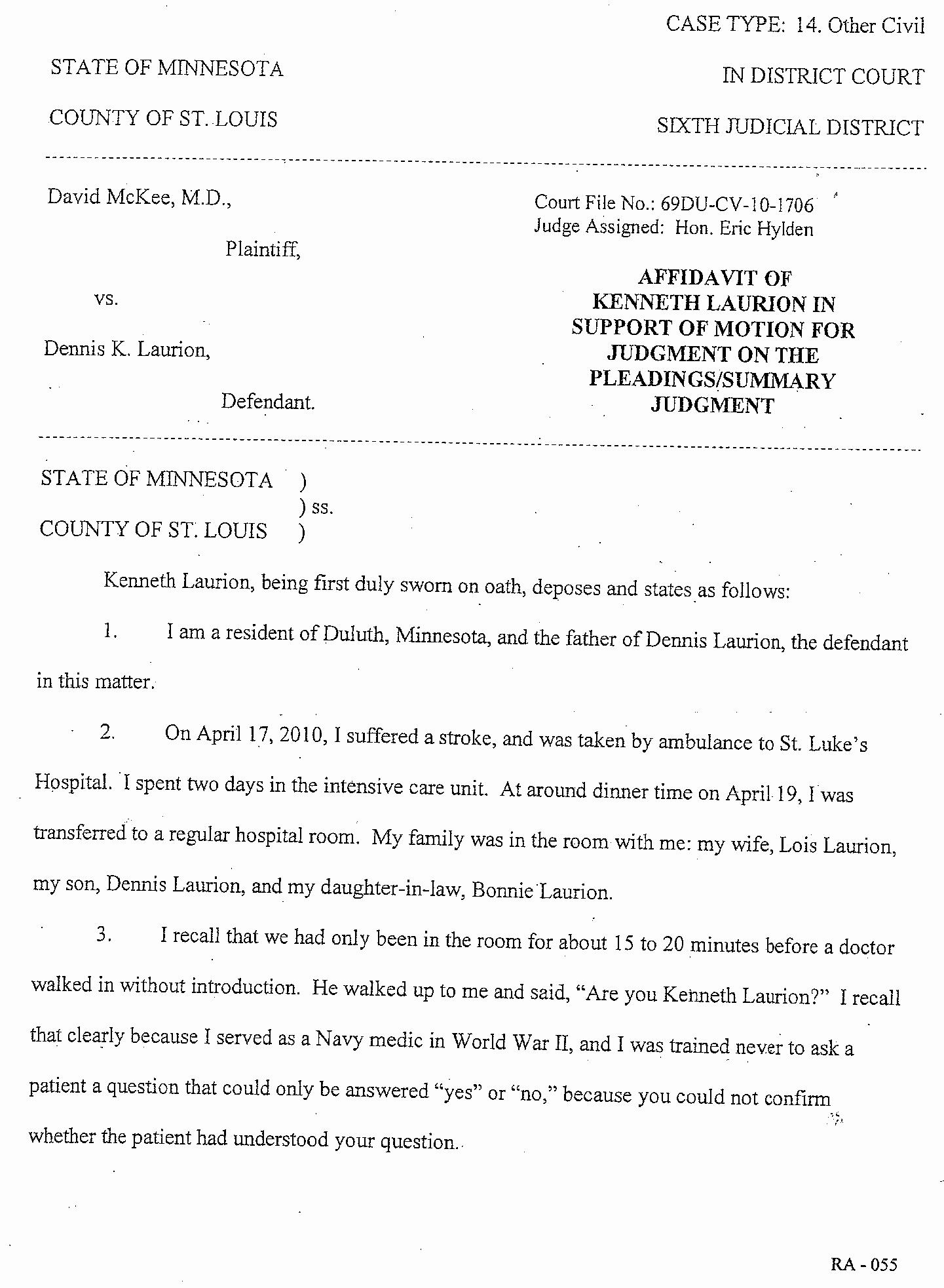 Affidavit Of assignment Fresh assignment Judgment On the Pleadings Maybankperdanntest