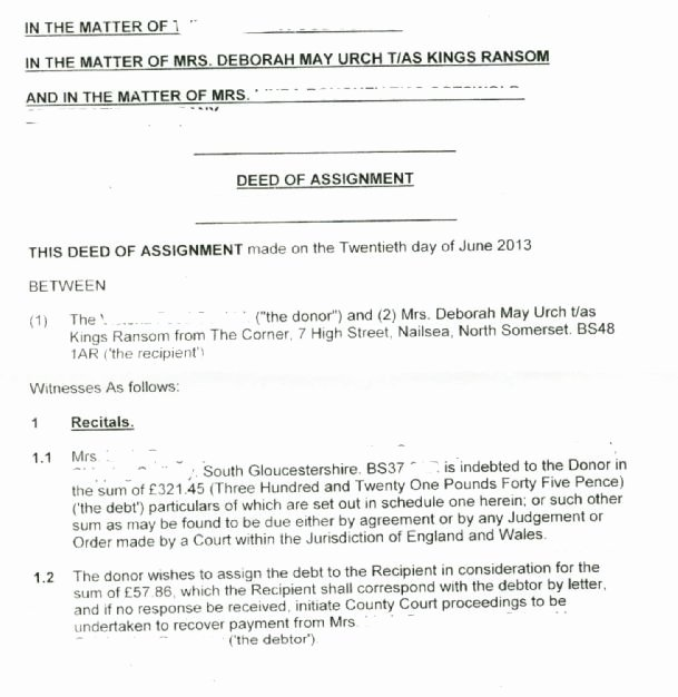 Affidavit Of assignment Fresh Deed Property Use This form after Death to Transfer