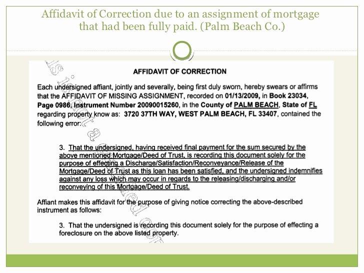 Affidavit Of assignment Lovely Power Point Fl Ag