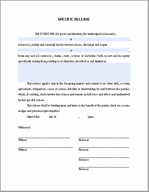 Affidavit Of assignment Luxury Special Release Affidavit
