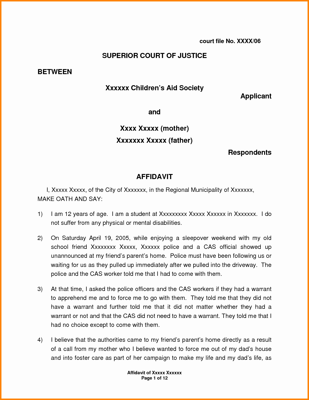 Affidavit Of Support Example Letters Elegant 11 Example Of Affidavit Letter for Immigration