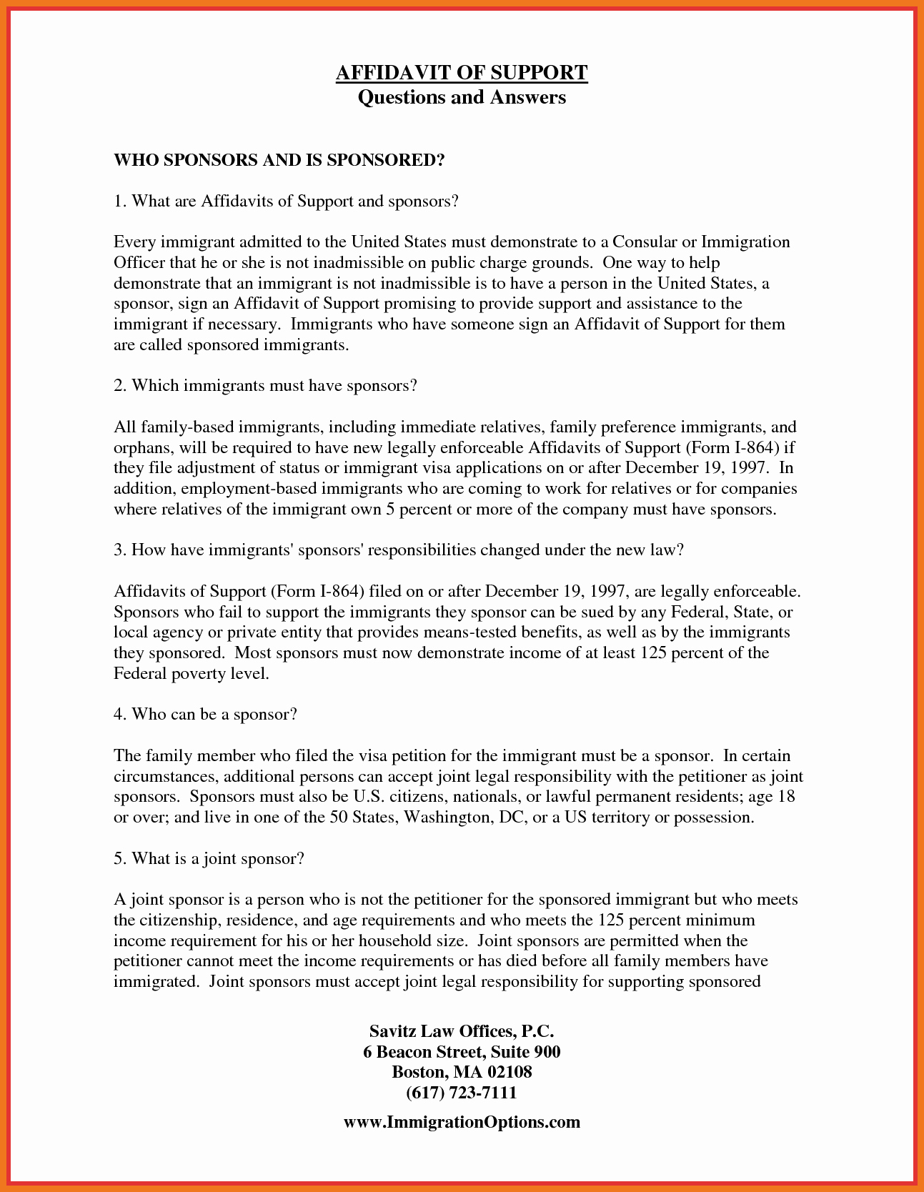 Affidavit Of Support Example Letters Luxury 2 3 Sample Of Affidavit Of Support