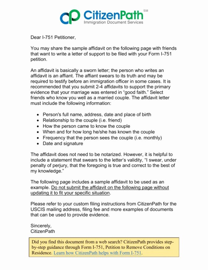 Affidavit Of Support Letter Sample Inspirational Affidavit Support