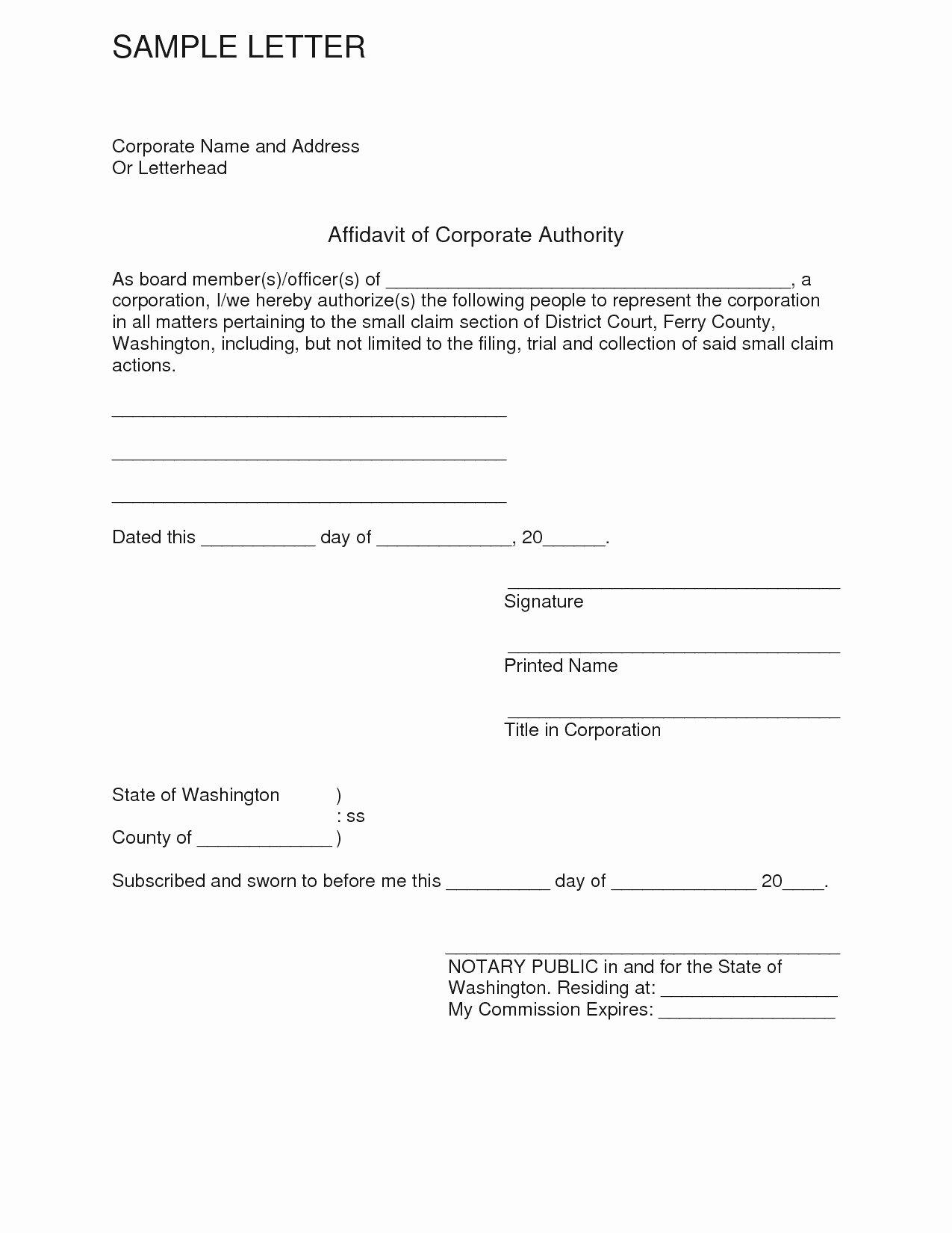 Affidavit Of Support Sample Letter Fresh Affidavit Letter Template Bluemooncatering
