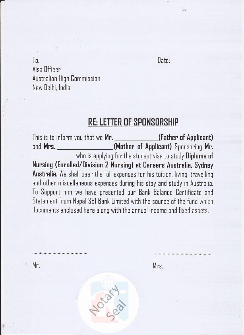 Affidavit Of Support Sample Letter Pdf Elegant Sponsorship Certificate Affidavit Of Support