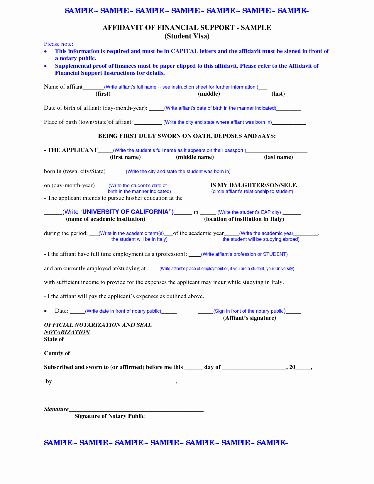 Affidavit Of Support Template Letter Elegant Affidavit Support Letter Template Letter Mughals