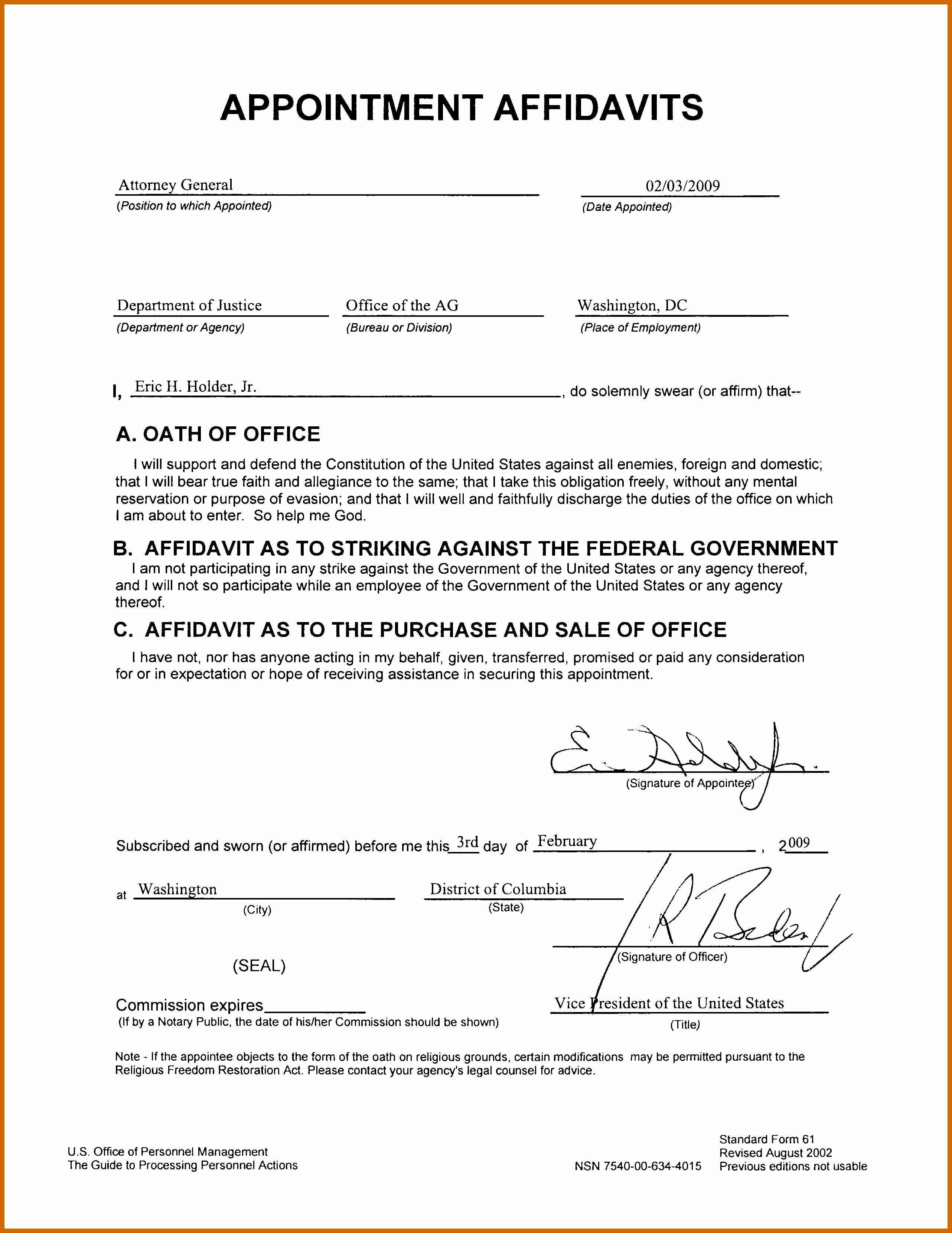 Affidavit Support Letter Beautiful 3 4 Affidavit Sample Letter