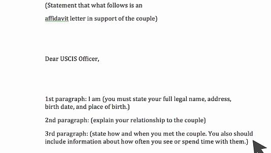Affidavit Support Letter Elegant Affidavit Example form for Bonafide Marriage Immigration