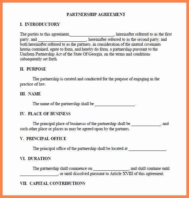 Affiliate Partnership Agreement Template Beautiful 4 Partnership Agreement Template Word Document
