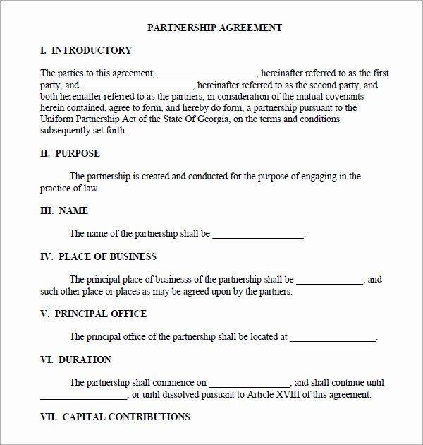 Affiliate Partnership Agreement Template Fresh 11 Sample Business Partnership Agreement Templates to