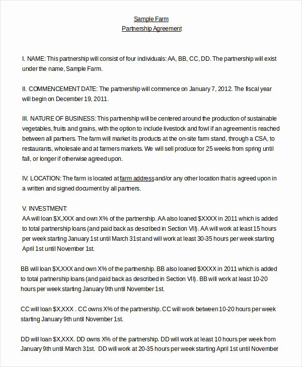Affiliate Partnership Agreement Template Inspirational Partnership Agreement 20 Free Word Pdf Documents