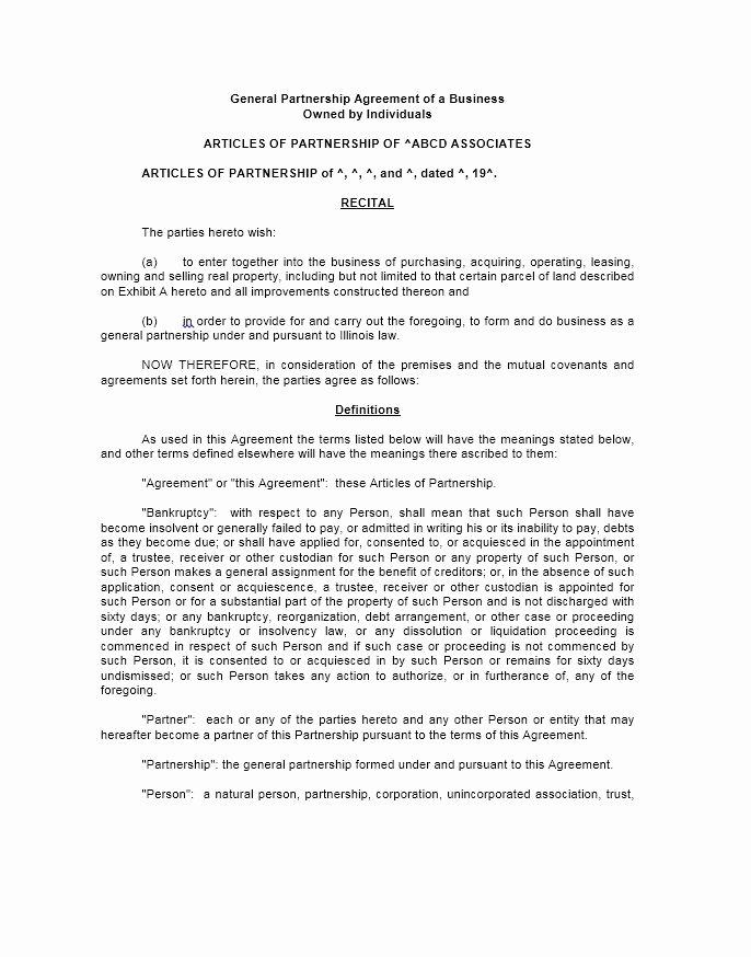 Affiliate Partnership Agreement Template Luxury 40 Free Partnership Agreement Templates Business General