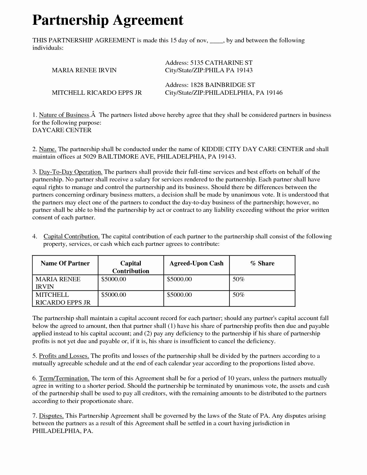 Affiliate Partnership Agreement Template New Partnership Agreement Free Printable Documents