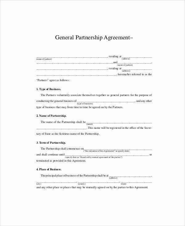 Affiliate Partnership Agreement Template Unique Sample Business Partnership Agreements In Pdf 10