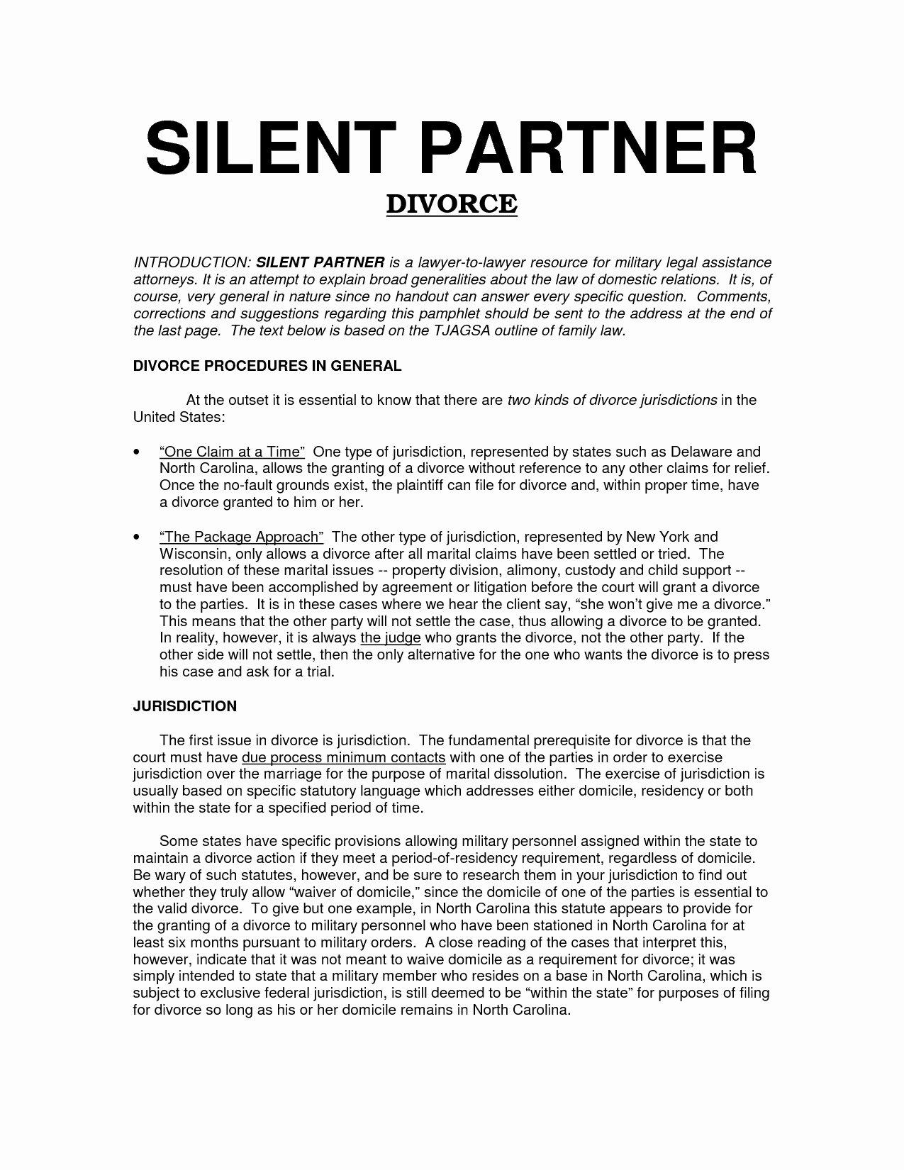 Affiliate Partnership Agreement Template Unique Silent Partnership Agreement Template Perfect Free Silent