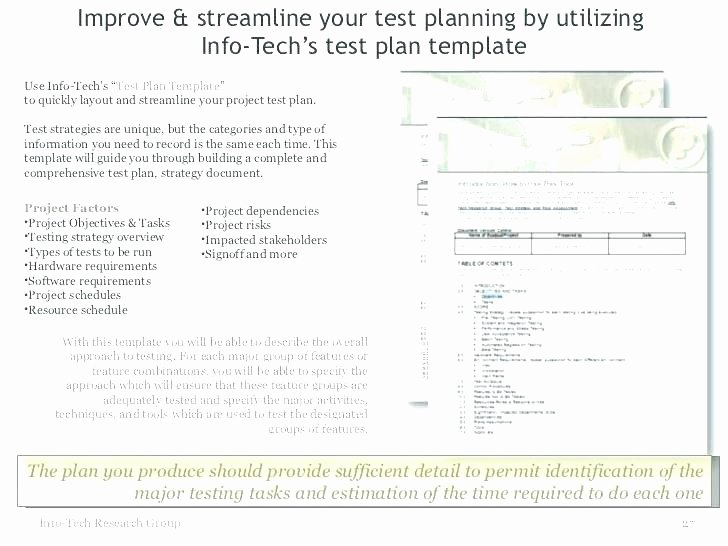 Agile Test Plan Template Awesome Test Strategy Document Template