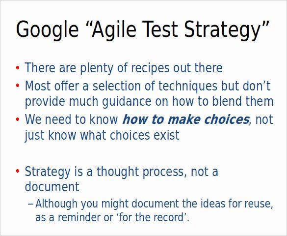 Agile Test Plan Template Inspirational Test Strategy Template – 11 Word Pdf Ppt Documents